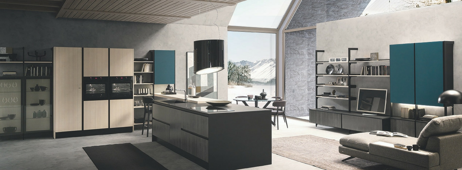 Cucine con isola - Cucine open space con isola ...